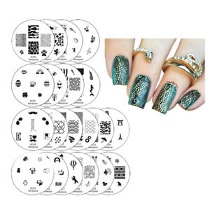 Winstonia-Nail-Art-Stamping-Plates-Set-Stamp-Disc-Manicure-1ST-GEN-Template-Gel