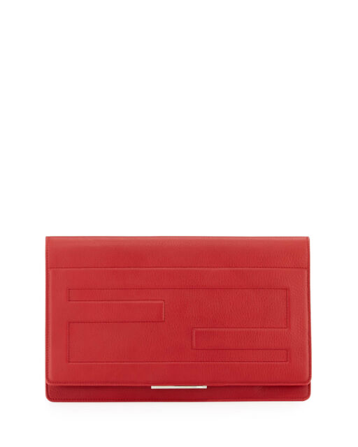 727270c92a5 100 Authentic Fendi Tube Macro Leather Red Clutch Bag/handbag for ...