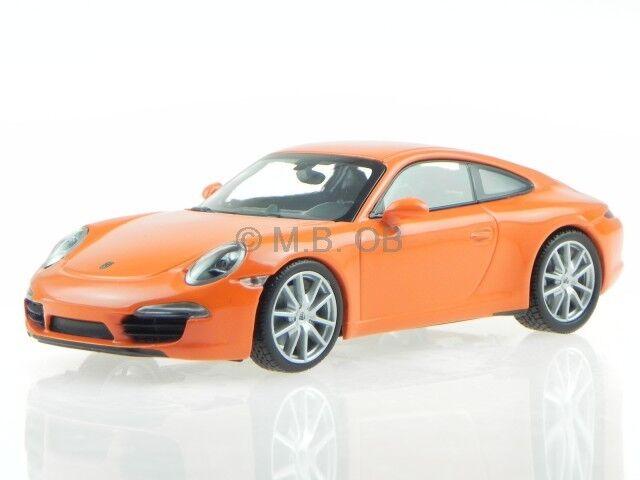 Porsche 911 991 Carrera S 2012 Orange véhicule miniature 60221 Maxichamps 1 43