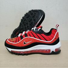 Nike Air Max 97 GS Size 6y Midnight Navy Habanero Red 921522