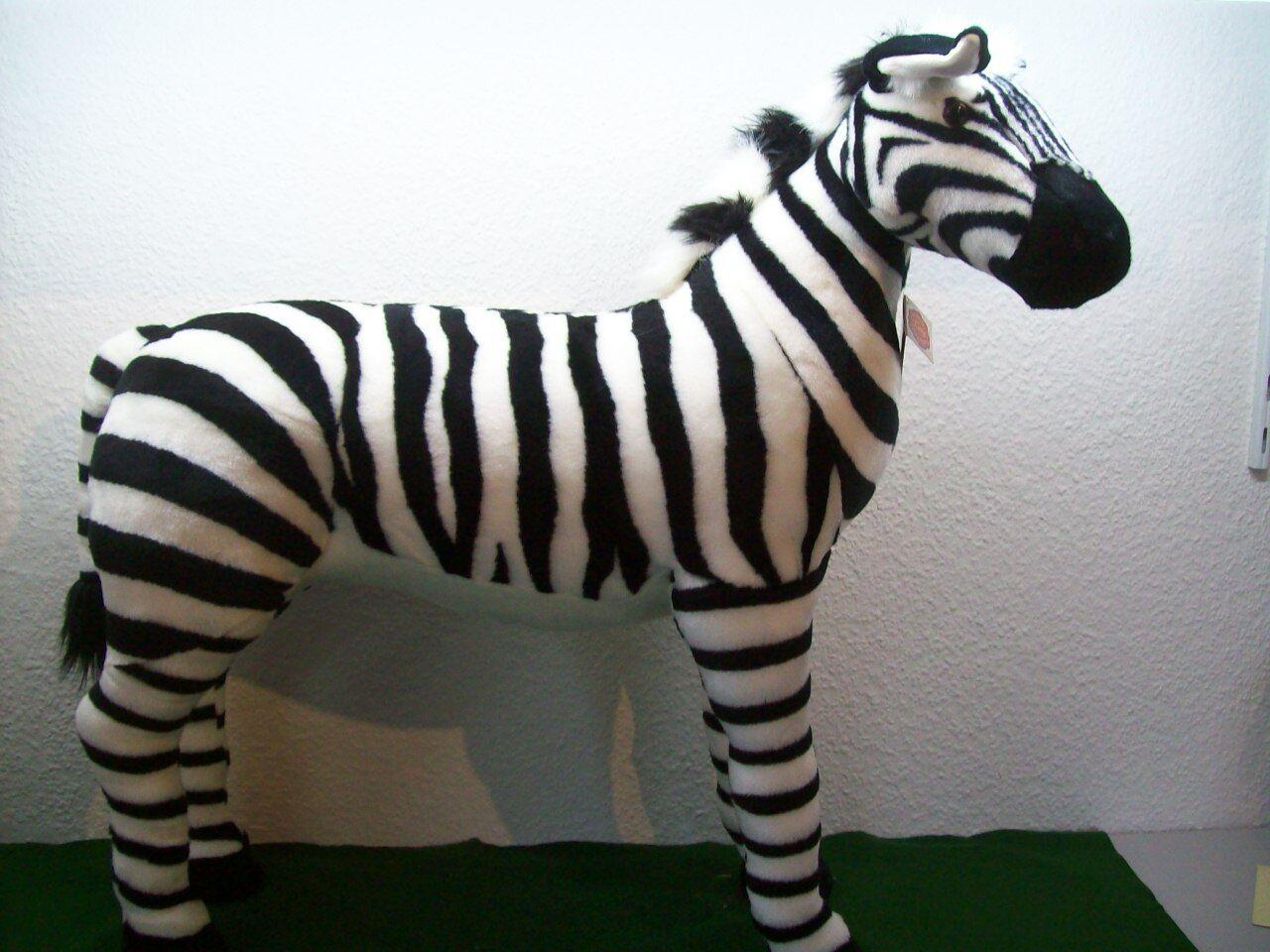 1 Zebra Teddy Hermann Studiotier 80cm KEIN Reittier 90280 5 Plüschtier Stofftier