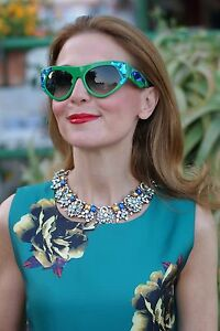 Prada-AUTH-NEW-Blue-Crystals-Green-Voice-Sunglasses-SPR21Q-56-18-SMP-0A7-140