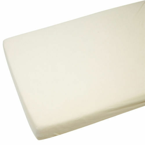 2x Cot Bed 100/% Cotton Jersey Fitted Sheets 140 x 70 cm Cream