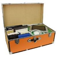 Orange College Trunk 30in Dorm Camp Foot Locker Storage Box Bedroom Organizer