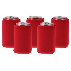 5x Beer Tin Can Stubby Cooler Sleeve Holder Wrap Neoprene Outdoor Black