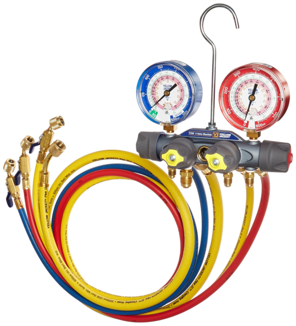 TITAN Manifold w//Hoses and Ball Valves Yellow Jacket 49968 R22//404A//410A