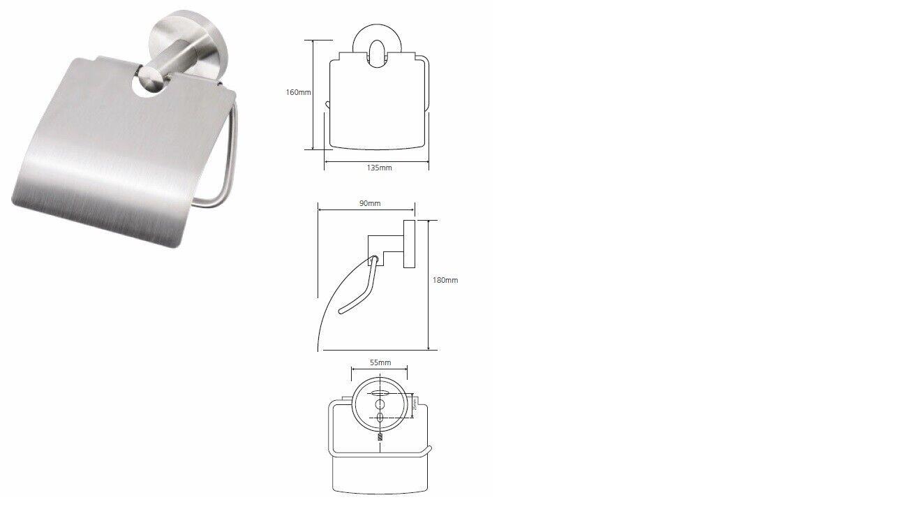 Toilettenpapierhalter mit mit mit und ohne Klappe Edelstahl gebürstet, X-STEEL 625bad