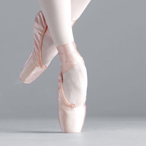 Shoes Children Girls Kids Adults Lace-Up Satin Dance Gymnastic Ballet Pointe New