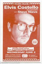 ELVIS COSTELLO Steve Nieve Original 1999 Concert Handbill / Flyer