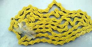 FIXED GEAR SINGLE SPEED YELLOW CHAIN 1//2 X 1//8 BMX