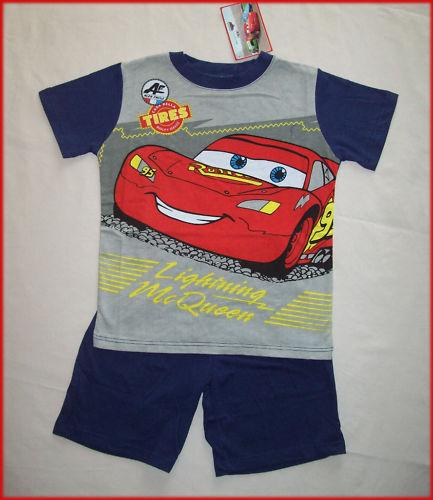 DISNEY CARS sz 4 6 or 8 Awesome Summer PJs BOYS PYJAMAS Lightning McQueen New