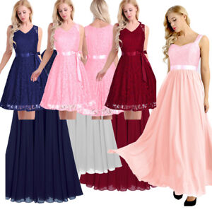 Women-Lace-Short-Dress-Cocktail-Party-Evening-Formal-Ball-Gown-Prom-Long-Dresses