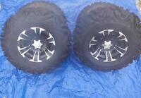 Yamaha Grizzly 660 4/110mm Tire Kit Itp Ss312 Rims 27x9-14 27x11-14 Hd