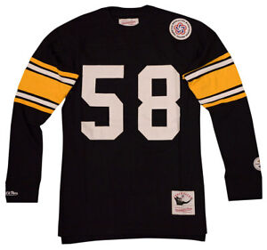 6a7feb34263 Image is loading Pittsburgh-Steelers-Jack-Lambert-Name-amp-Number-Long-
