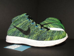 save off 0d27f 549b6 Image is loading NIKE-LUNAR-FLYKNIT-CHUKKA-NIGHT-FACTOR-GREEN-BLACK-