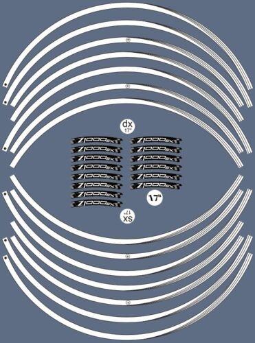 KIT STRISCE ADESIVE compatibili per CERCHI 17 MOTO KAWASAKI Z1000sx tuning