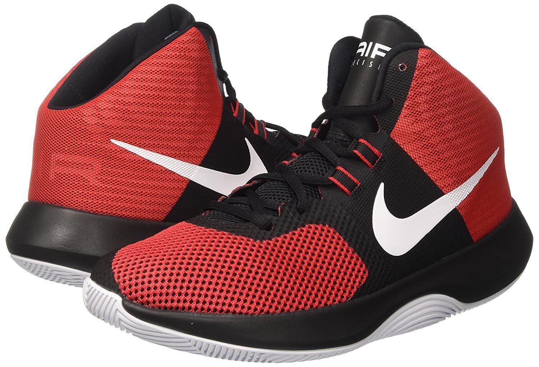 Nike air precisione uomini scarpe da basket rosso - nero taglia nwb
