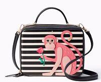 Kate Spade York Rambling Roses Monkey Casie Satchel Crossbody Bag $398