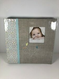 C-R-Gibson-Grey-039-Linen-Tree-039-Bound-First-Five-Years-Memory-Baby-Book-Unisex