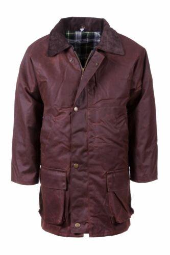 Boys Traditional Wax Jacket Rydale Waxed Cotton Coat Junior British Made