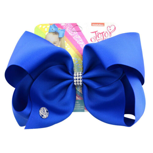 New Pure Color JoJo Siwa Hair Bow With Alligator Clip Girl Kids Bowknot  8 inch
