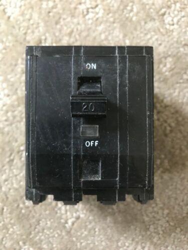 Square D 20 amp 3 pole push on breaker Q0320