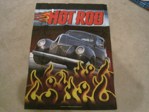 """HOT ROD RACING 28/"""" X 40/""""  HOUSE BANNER FLAG NEW 1940 FORD"""