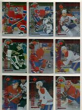 1997-98 Donruss Canadian Ice Dominion Series Montreal Canadiens Team Set (9)