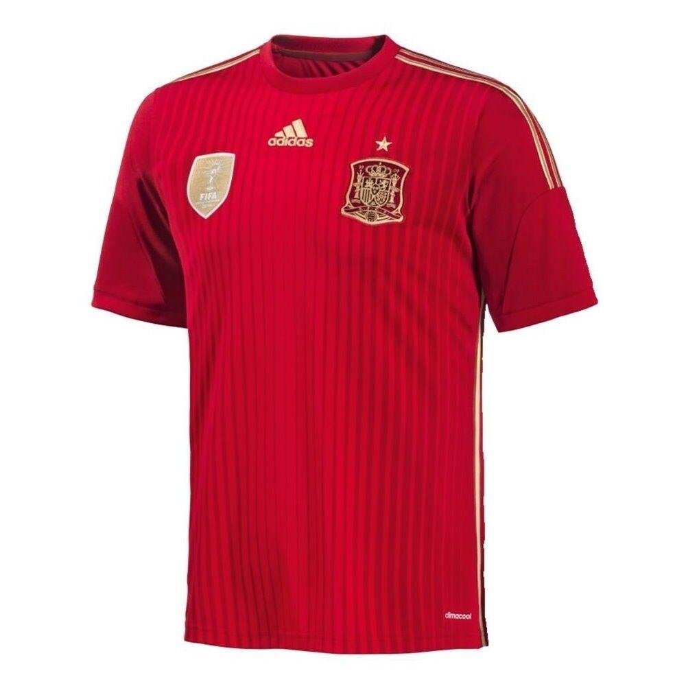 Adidas FEF Spanien Fußball Home Home Home Heim Trikot WM Herren Männer Weltmeisterschaft 99f906