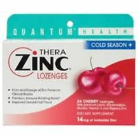 Quantum Health Thera Zinc Cold Season+ Lozenges Cherry 24 Each (pack Of 2) on sale