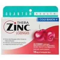 Quantum Health Thera Zinc Cold Season+ Lozenges Cherry 24 Each (pack Of 2) on sale