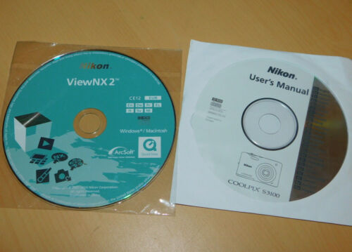 lot 2 CD-ROM NIKON USER/'S MANUAL manuel COOLPIX S3100 viewNX2 mode d/'emploi