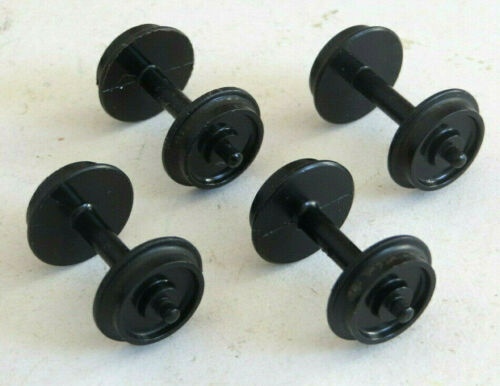 good used spares 4 x Hornby Dublo 2 rail plastic disc wheelsets wheels