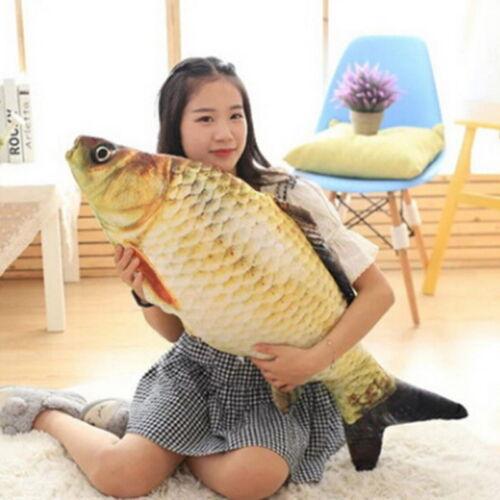Funny 3D Fish Carp Stuffed Animal Pillow Cushion Animal Kids Toy Birthday Gift