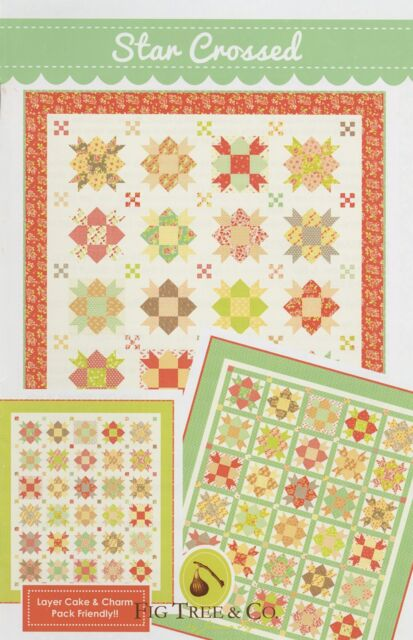Star Crossed Quilt Pattern #1030 Fig Tree Layer Cake & Charm Friendly 2 sizes