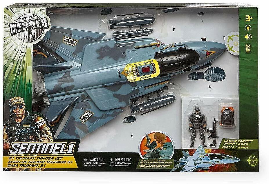 giocattoliRUS True Heroes Sentinel 1 S1 Truhawk combatiente Jet Set  luci & suonos NIB