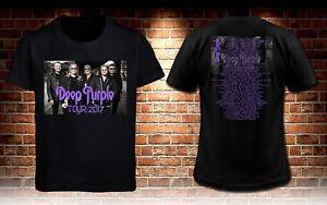 Deep-Purple-Tour-Dates-2017-Black-T-shirt-Men-039-s-Tee-S-to-3XL