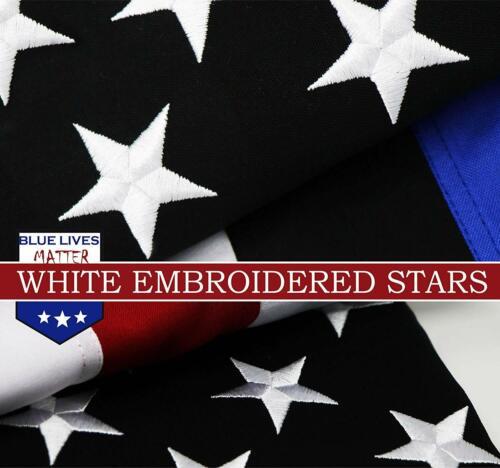 3x5 FT Spun Polyester Blue Lives Matter Flag Police Flag Embroidered