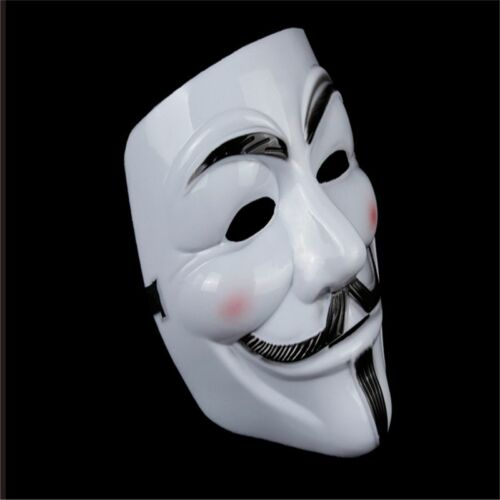 V for Vendetta Mask Adult Men Guys Fawkes Anonymous USA Occupy Cosplay Costume
