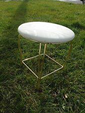 Vintage~Mid Century~Dressing Table~Metal~Padded Seat~Vanity~Stool 4 Legs~Chair