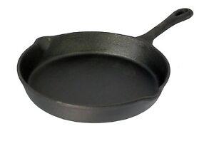 NUOVO-pre-seasoned-20-cm-in-ghisa-Padella-skillet-rotonda-per-cucinare-meglio-66