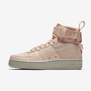 Nike SF Air Force 1 AF1 Mid Women s Sneakers - Pink Orange Quartz ... fc990421d