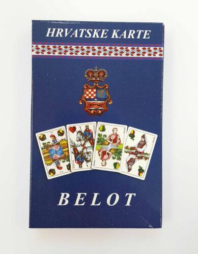 Croatian Art playing cards game Belot play Croatia Bellote Belote NEW Bela