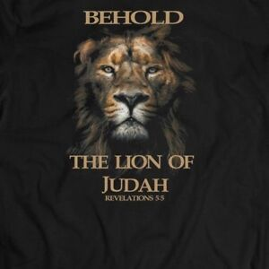 4599cb7d Details about BEHOLD THE LION OF JUDAH CHRISTIAN T-SHIRT MANY SIZES AND  COLOR OPTIONS