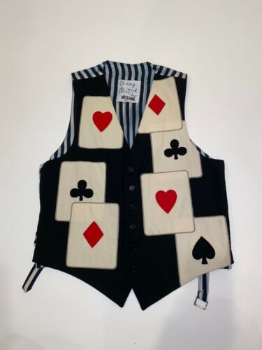 Moschino Vintage Playing Cards Poker Vest 40
