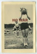 Wwii Original German Photo Girl From Bdm In Sports Uniform 1