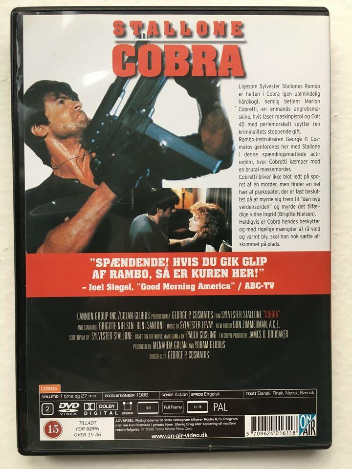 Cobra (1986), instruktør Sylvester Stallone, DVD