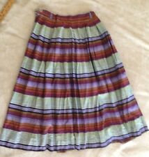 Vintage 1950s/50s Floral Print Pleated Skirt Rockabilly