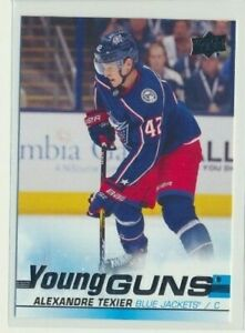 2019-20-Upper-Deck-Series-1-Rookie-Young-Guns-225-Alexandre-Texier-Columbus