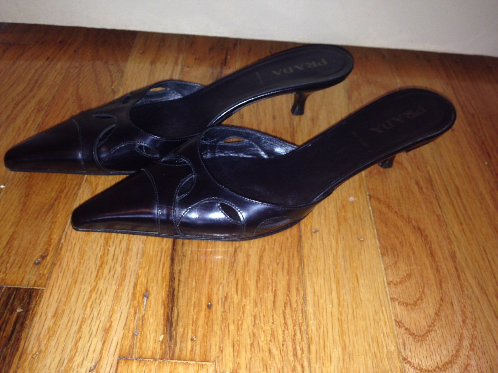 PRADA LADIES noir ITALY chaussures SANDALS Taille 37 (7 (7 (7 US) b0f9d0